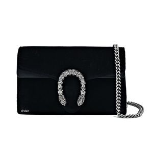 Gucci Dionysus Super Mini Black Velvet Bag
